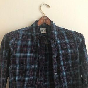 Converse plaid buttoned down shirt